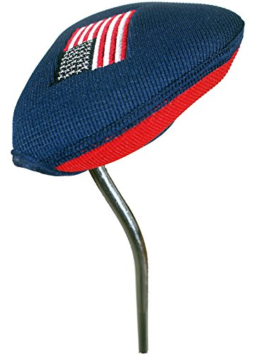 Stealth Club Covers 12090 Putter Oversize Mallet 2-Ball Golf Club Head Cover, USA Red/Navy - Golf Club Putter Cover