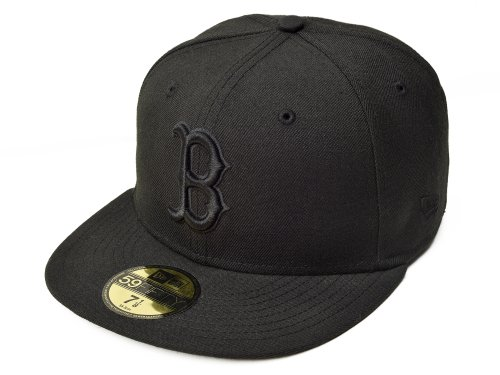 MLB Boston Red Sox Black on Black 59FIFTY Fitted Cap, 7 1/8 - Sox Fitted Cap