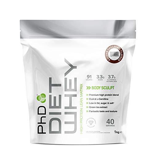 PhD Nutrition Diet Whey Protein Powder, 1 kg, Belgian Chocolate