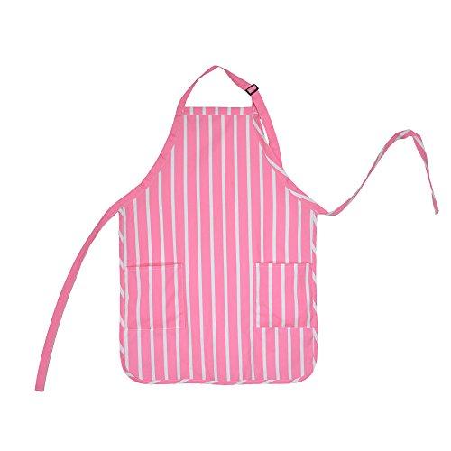 Apron Commercial Restaurant Home Bib Spun Poly Cotton Kitchen Aprons (2 Pockets) (1, Pinstripe - Apron White Stripe