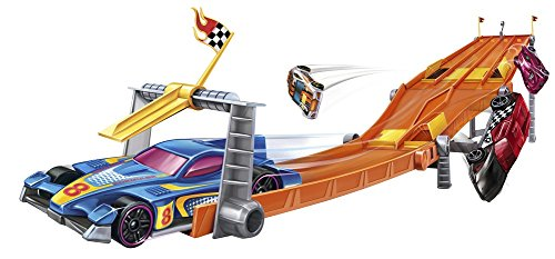 Hot Wheels Retro 4-Lane Elimination Race Track Set (Track For Trucks)