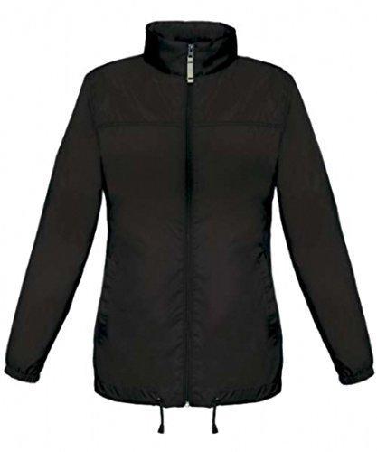 Shirtinstyle vent Veste Basic Coupe Noir Femme avec Impermable veste Impermable blouson capuche grqrOZxX