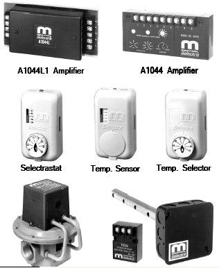 Maxitrol TD244 Wall Mount Space Temperature Selector, 55-90 Degree F Temperature Range