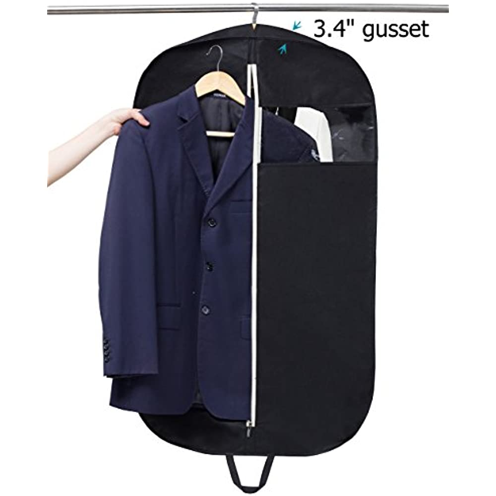 NKTM Suit Carry On Garment Bag for Travel /& Business Trips With Shoulder Strap