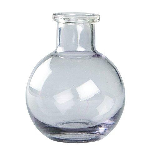 Ivy Lane Design Transparent Glass Vases, 3.5-Inch, Smoke, 5-Pack (Vase Bud Pewter)