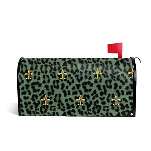 Jkuihuiyhjd Jewelled Leopard Home Garden Magnetic Mailbox Cover Weatherproof Sunscreen