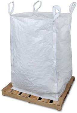 1 Bag AB-30-2-208 42 x 42 x 44 Woven Polypropylene Bulk Bag with Top and Bottom Spout