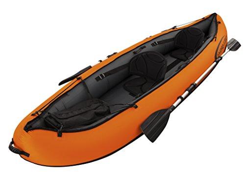 Bestway 65052 - Kayak Hinchable Bestway Hydro-Force Ventura para 2 personas (330x94 cm) - Incluye remos desmontables de 2 palas en aluminio, ...
