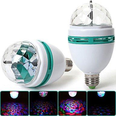 Bombilla LED E27 3 W a todo color lámpara giratoria para discoteca fiesta luz de la