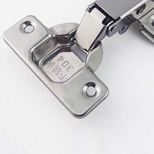 4PCS Stainless Steel Door Hydraulic Hinges Damper Buffer Mute Concealed Hinge