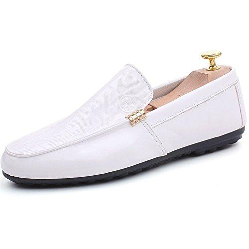 Polka Atlético Aire Zapatos Hombre Comfort Ons HUAN Slip Casual Libre Dot PU y Blanco Primavera Al Mocasines Para Blanco Negro de Otoño Rojo 6TEdwdxqP