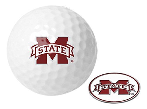 Bulldogs Logo Golf Balls (NCAA Mississippi State Bulldogs - Golf Ball One Pack with Marker)