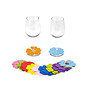 Present Time Spring Flowers Glass Markers, Set of 20
