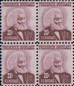 Frederick Douglass Black Heritage (#1290 Block of 4x25¢ US Postage Stamps)