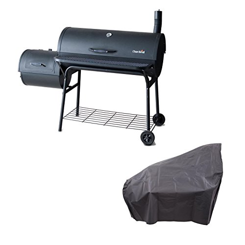 Char-Broil American Gourmet 1280 Offset Charcoal Smoker Grill w/Cover, Black by Char-Broil