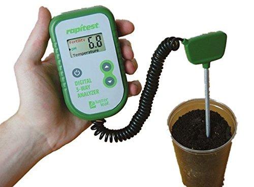 (Digital 3 in 1 Soil Tester Analyzer Ph, Fertility, Thermometer Soil Garden Plant Test Tester)