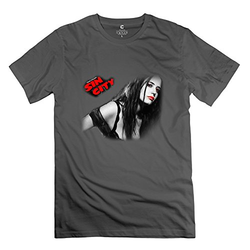 Designed Men's Tshirts Retro Jessica Alba Sin City Fantastic Four Size XS DeepHeather