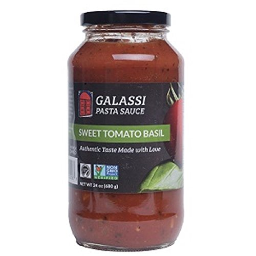 Galassi Foods Sweet Tomato Basil Pasta Sauce, 24 Fluid (Healthy Pasta Sauce)