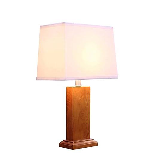 BTDB Lámpara de Mesa de Madera Maciza Simple China, Pantalla ...
