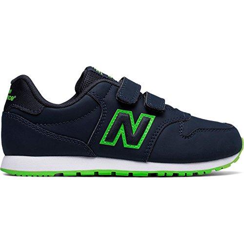 New Balance Kv500 Gey, Zapatillas de Deporte Unisex Niños azul marino verde