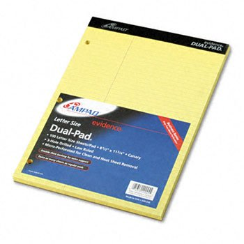 Ampad® Evidence® Dual Pads PAD,DUAL,LAWRULED,LTR,CAN (Pack - Dual Pad Evidence