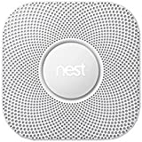 Nest Protect Smoke and CO Alarm | 2nd Generation Wired Smoke and Carbon Detector
