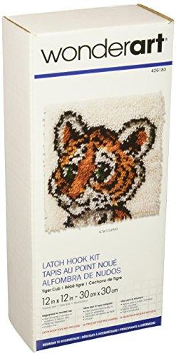 Wonderart Tiger Cub Latch Hook Kit, 12