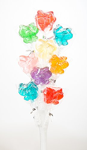 Momma's Rainbow Candy Assorted Butterfly Lollipop Bouquet (One Bouquet)