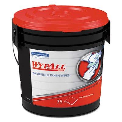 KIMBERLY CLARK Wypall Waterless Hand Wipes - 75 per Bucket (6 Carton)