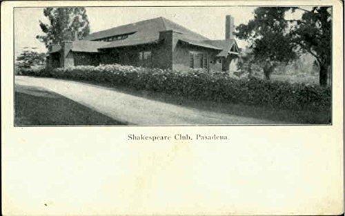 Shakespeare Club Pasadena, California Original Vintage -