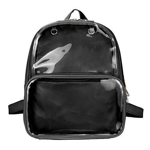 (SteamedBun Ita Bag Double Window Candy PU Leather Backpack Kawaii Pins Bag)