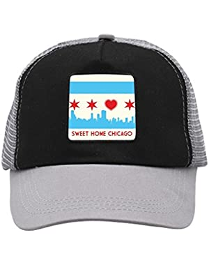Unisex Sweet Chicago Home Trucker Hat Adjustable Mesh Cap