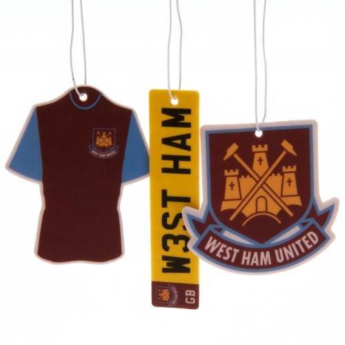 West Ham United F.C. 3pk Air Freshener TU Football Souvenirs