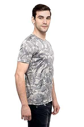 NEXGEN SPORT CLUB Grey Round Neck T-Shirt For Men