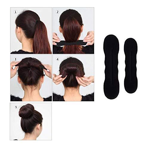 DELOVE- Hair Styling Set, Fashion Hair Design Styling Tools Accessories DIY Hair Accessories Hair Modelling Tool Kit Hairdress Kit Set Magic Simple Fast Spiral Hair Braid Hair by DELOVE (Image #5)