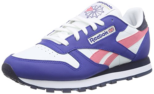 Seasonal Royal Polar Femme Course Mehrfarbig de Chaussures Collegiate Navy Reebok Cl Collegiate II LTHR Blue Multicolore aP1n6EEgq
