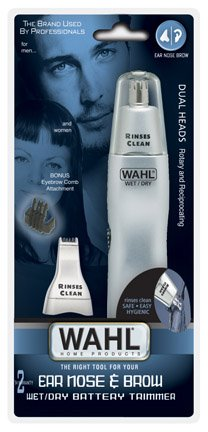Wahl Dual Head (Wahl Dual Head Ear, Nose & Brow Personal Trimmer 1 ea (Pack of 4))