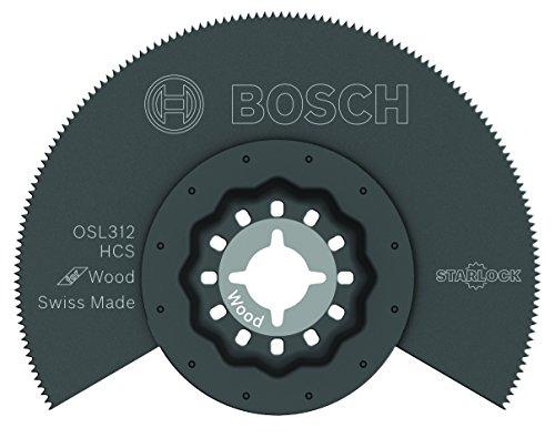 Bosch OSL312 Starlock Oscillating Multi Tool High-Carbon Steel Segmented Saw Blade, 3-1/2