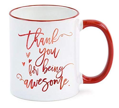 Employee Gift/Thank You For Being Awesome Mug/Employee Appreciation Gift/Administrative Professionals Day/Admin Assistant