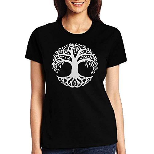 9b85fefbec7a2 GAMSJM Adult Celtic Tree of Life Undershirts Womens Tshirt Sportswear  Casual Crewneck-XL