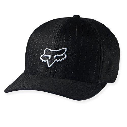 Fox Head Men's Legacy Flexfit Hat, Black Pinstripe, Small/Medium