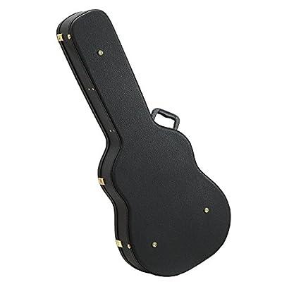 WXD Acoustic Dreadnought Hard-Shell Guitar Case,Black