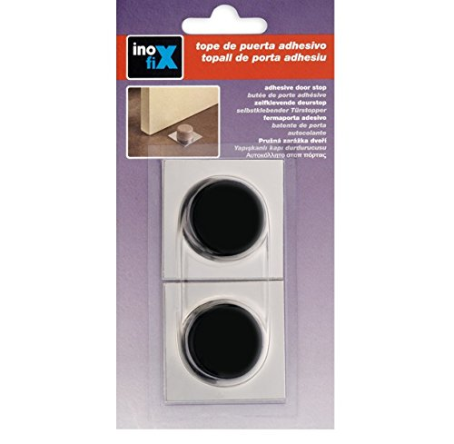 Inofix M231716 - Tope puerta adhesivo 2023 negro blister 2 unidades
