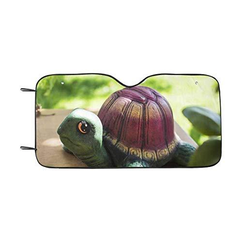 INTERESTPRINT Lovely Ceramic Colorful Turtle Windshield Sunshades, Car Sun Shade Block Sun UV and Heat, Universal Fit