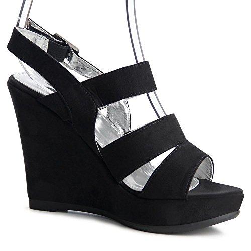 topschuhe24 - Zapatos de vestir para mujer, color Negro, talla 41