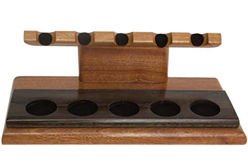 Neal Yarm Mahogany And Morta 5-Pipe Stand by Neal Yarm