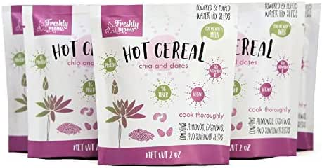 Freshly Moms Grain Free Hot Cereal For Pregnant And New Mothers (Pack of 5) - Nourishes And Promotes Healthy Breastfeeding.