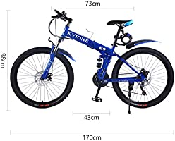 KVIONE E9 Bicicleta de montaña de 21 velocidades para Hombres y ...