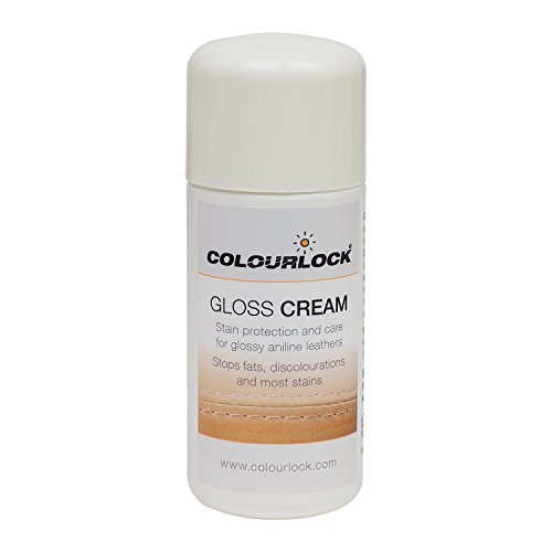 Colourlock Gloss Cream for Glossy Aniline Leather and Coated Leather to Care, Protect and Waterproof Aniline, Waxed, Oily or Pull up Leathers on Furniture, Shoes, Jackets, Bags and Garments 75 ml
