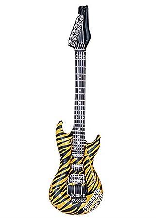 Magic Box Guitarra Inflable Rock Star Tiger Print: Amazon.es ...